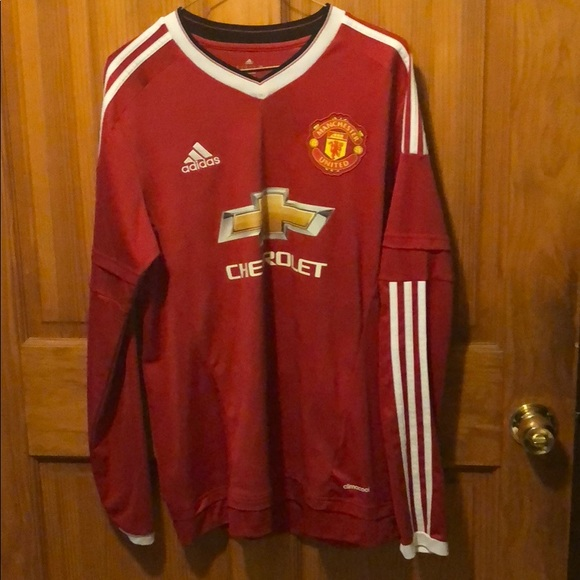 newest 1ce59 47def Manchester United 2015-2016 Long Sleeve Jersey